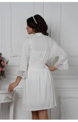Халат женский EMMI 38124 (Молочный)