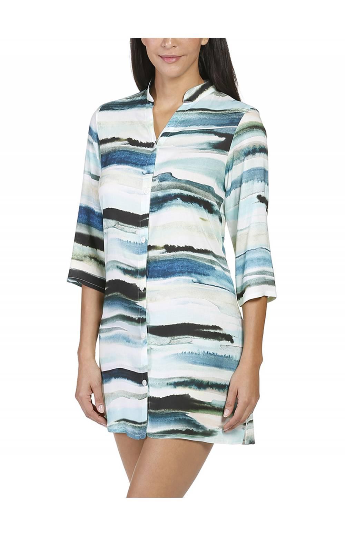 Платье пляжное Naturana (Натурана) 477051 (Голубой)