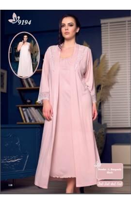 Комплект (халат + сорочка) 9194 (Розовый)