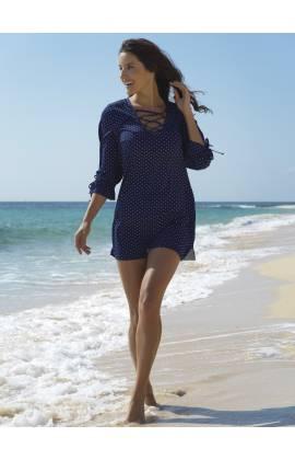Платье пляжное Ysabel Mora 85508 (Синий)