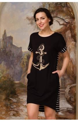 Платье женское большой размер Emmi 1005 (Черный)