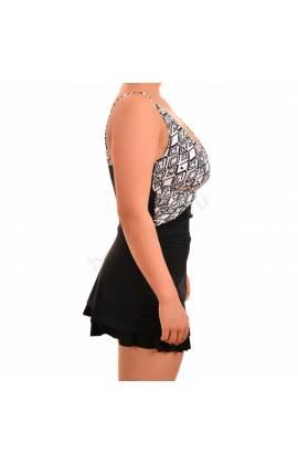 Купальник большого размера слитный с юбочкой Laura Amuletti 101 (Черный)