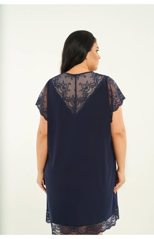 Сорочка с топом для большого объёма груди RIVA 814 (Синий)