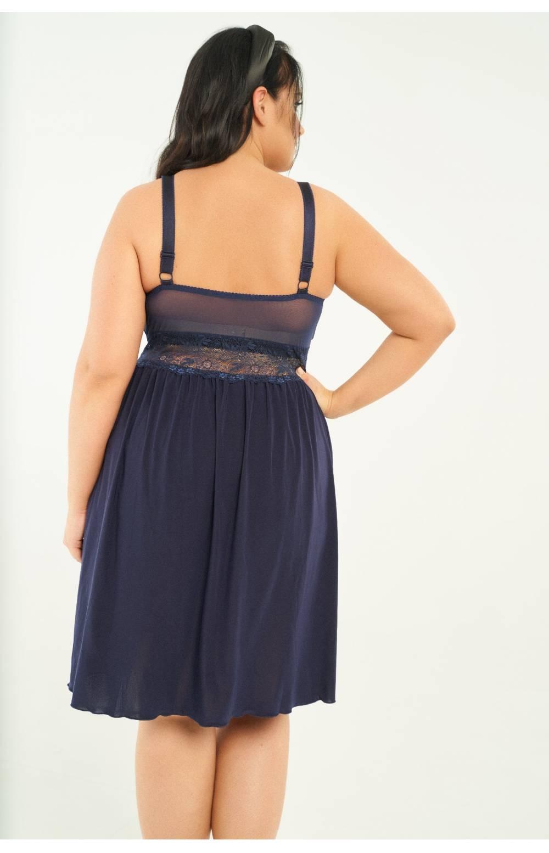 Сорочка с топом для большого объёма груди RIVA 811 (Синий)