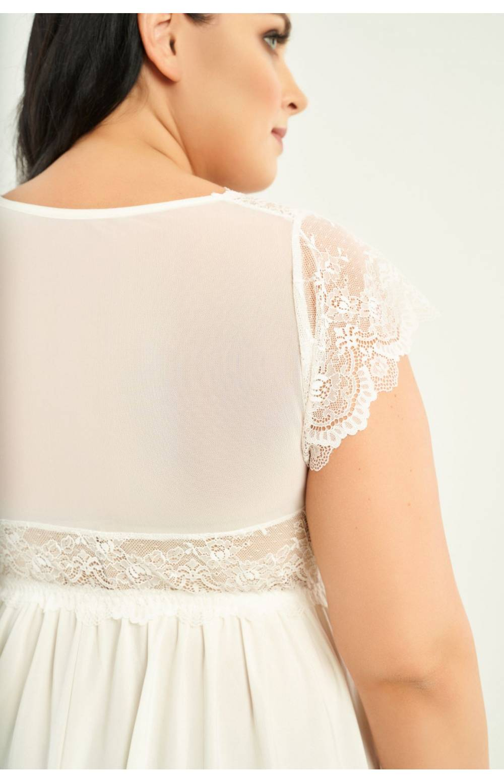 Сорочка с топиком для большого объёма груди RIVA 804 (Молочный)