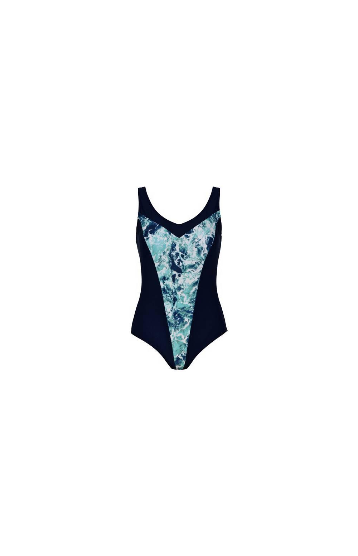 Купальник слитный для бассейна Naturana 31818 (Синий)